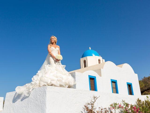 Craig and Angela's Wedding in Santorini, Greece 30