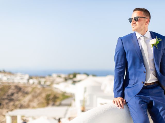Craig and Angela's Wedding in Santorini, Greece 41