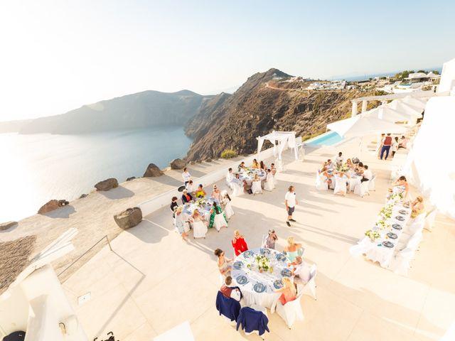 Craig and Angela's Wedding in Santorini, Greece 53