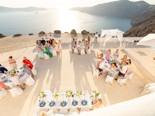 Craig and Angela's Wedding in Santorini, Greece 55