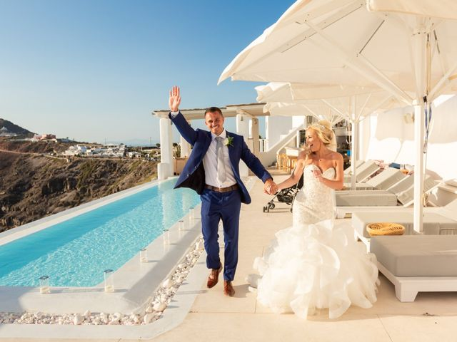 Craig and Angela's Wedding in Santorini, Greece 56