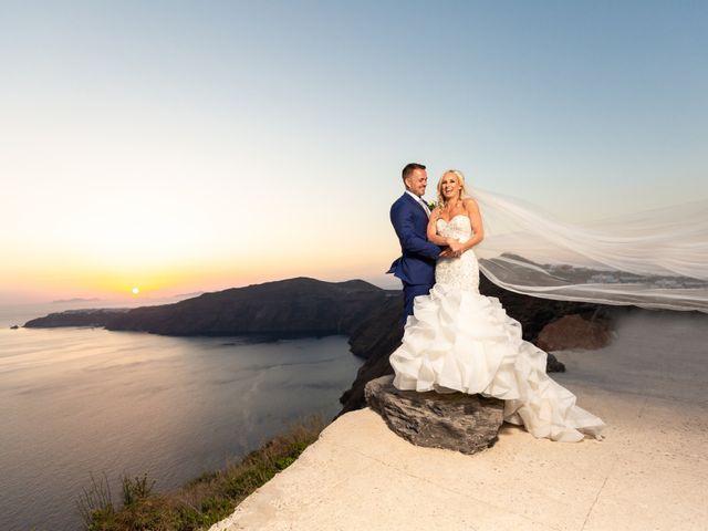Craig and Angela's Wedding in Santorini, Greece 60