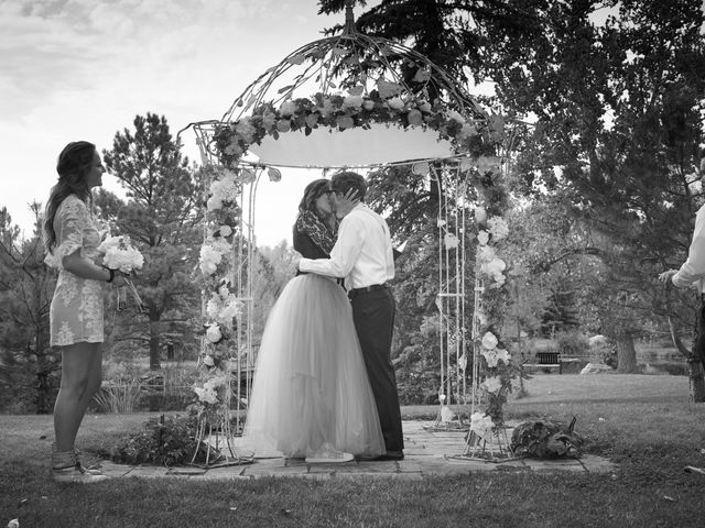 Josh and Adria's Wedding in Franktown, Colorado 32
