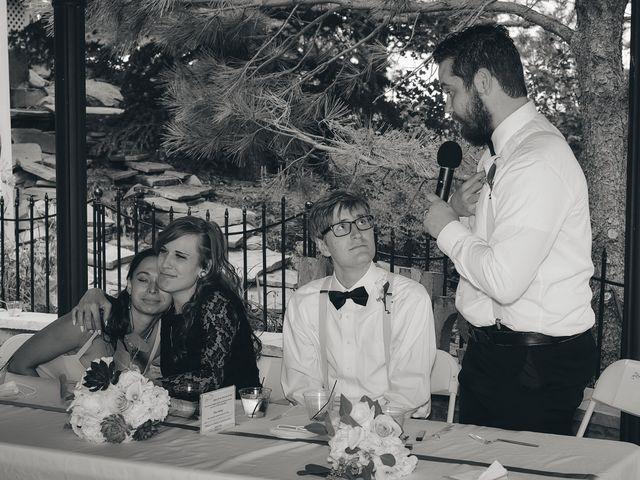 Josh and Adria's Wedding in Franktown, Colorado 54