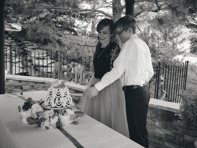 Josh and Adria's Wedding in Franktown, Colorado 58