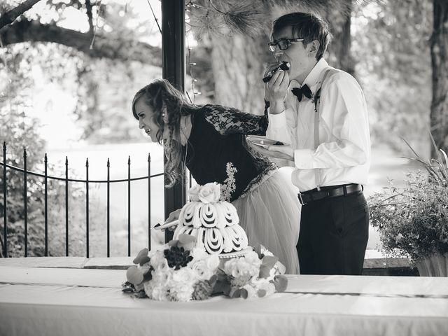 Josh and Adria's Wedding in Franktown, Colorado 60