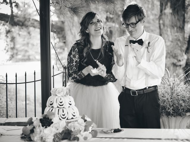 Josh and Adria's Wedding in Franktown, Colorado 61