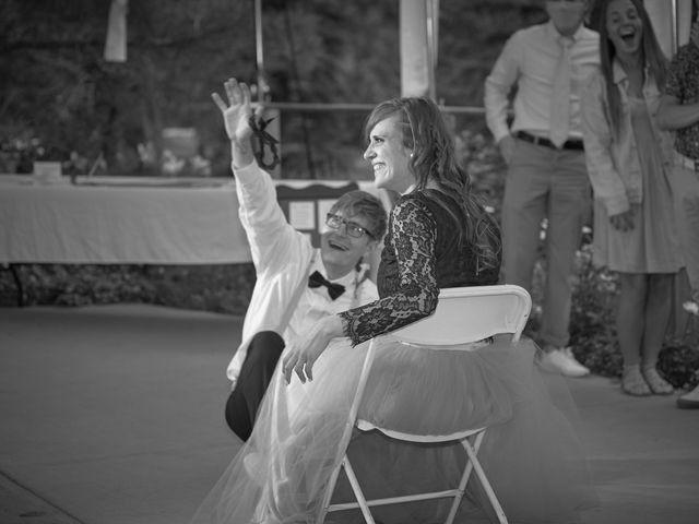 Josh and Adria's Wedding in Franktown, Colorado 78