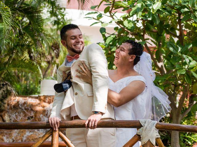Rafa and Pau's Wedding in Cancun, Mexico 60