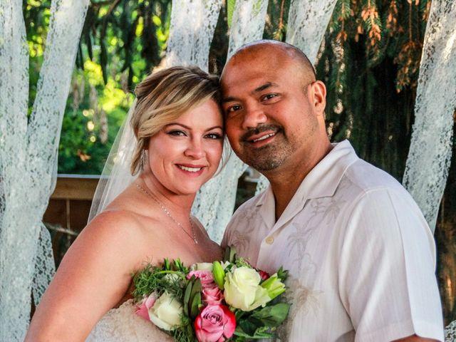 The wedding of Debra and Michael