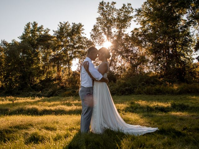 The wedding of Chad and Elizabeth