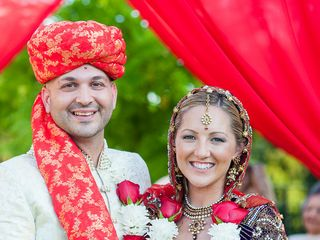 The wedding of Navin and Julianne