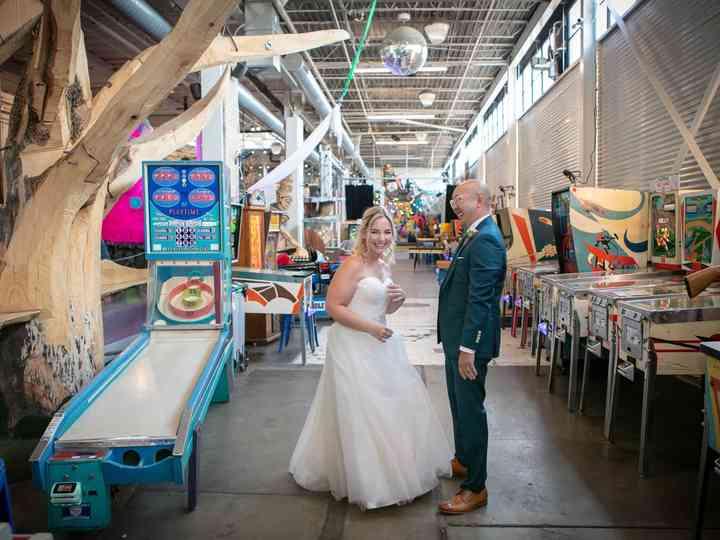 The wedding of Albert and Christina