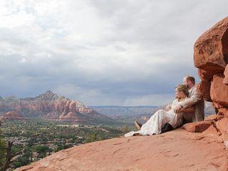 Emily and Joe's Wedding in Sedona, Arizona 11