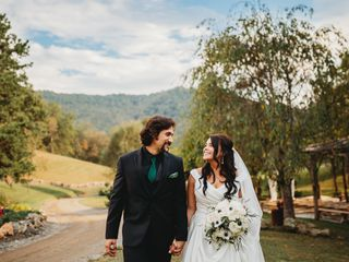 The wedding of Katya and Anthony