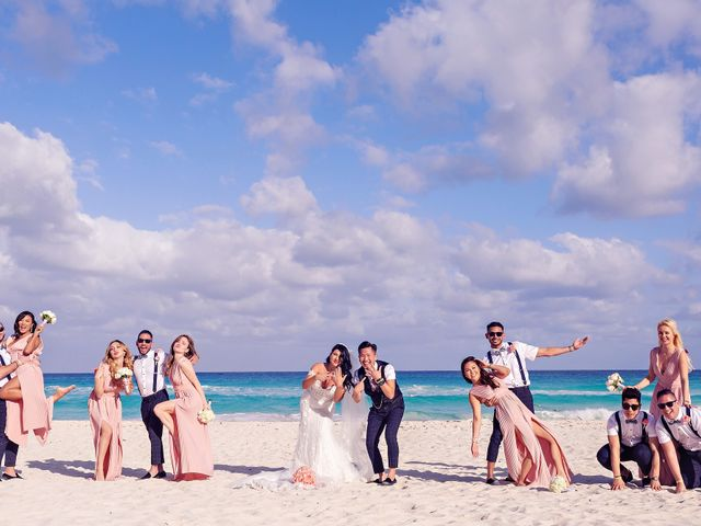 Chase and Ekaterina's Wedding in Cancun, Mexico 24