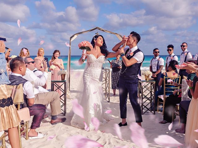 Chase and Ekaterina's Wedding in Cancun, Mexico 25