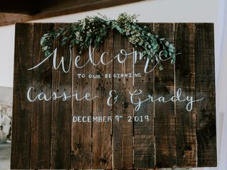 The wedding of Cassie and Grady 1