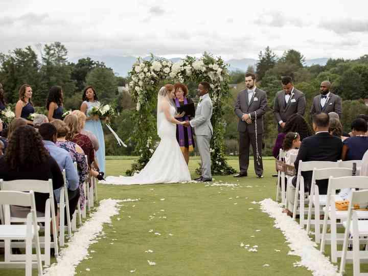 The wedding of Ashleigh and Byron