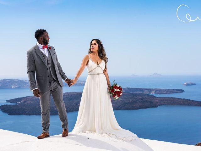 Terry  and Bianca 's Wedding in Santorini, Greece 1