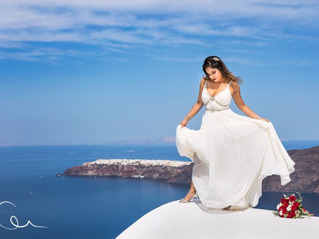 Terry  and Bianca 's Wedding in Santorini, Greece 2