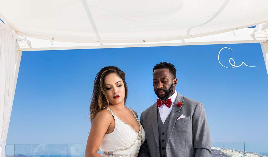 Terry  and Bianca 's Wedding in Santorini, Greece