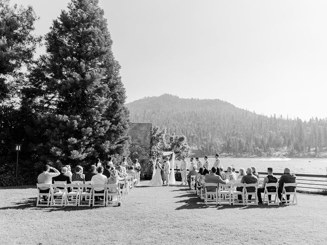 Christopher and Angela's Wedding in Bass Lake, California 14
