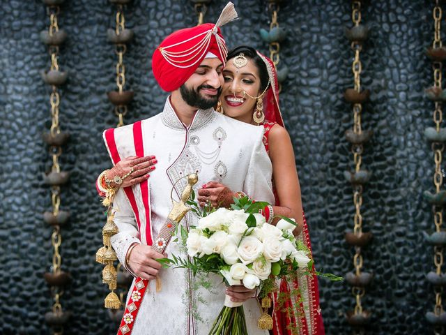 The wedding of Roshni and Nevan