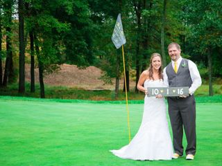 The wedding of Chas and Christie