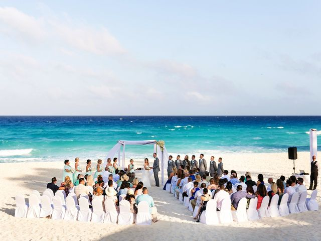 Shawn and Brittney's Wedding in Cancun, Mexico 38