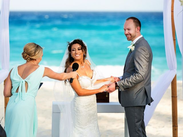 Shawn and Brittney's Wedding in Cancun, Mexico 42