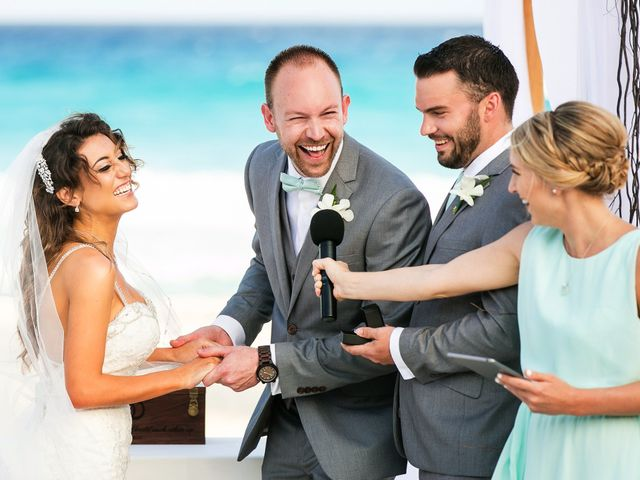 Shawn and Brittney's Wedding in Cancun, Mexico 45