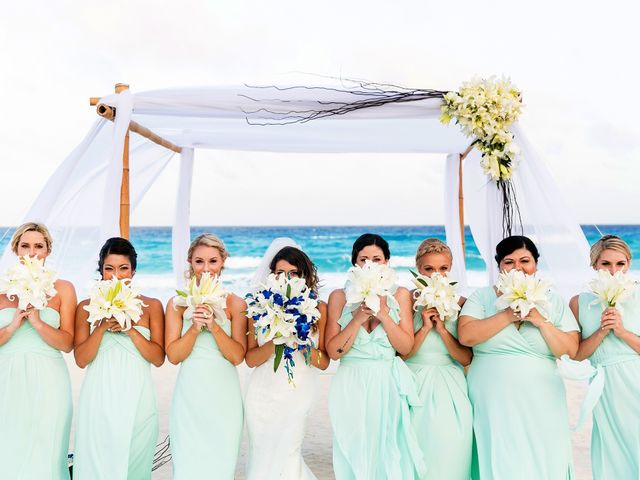 Shawn and Brittney's Wedding in Cancun, Mexico 55
