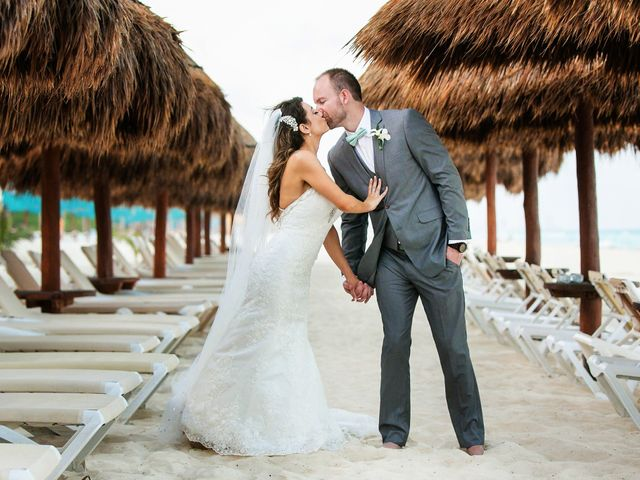 Shawn and Brittney's Wedding in Cancun, Mexico 57
