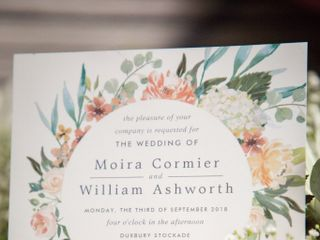 The wedding of Moira and William 1