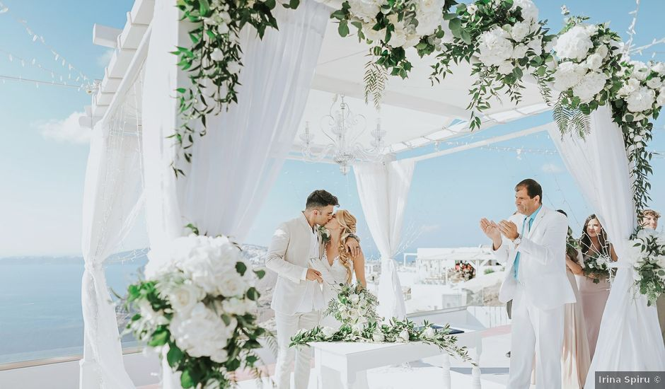 Ross and Neenah's Wedding in Santorini, Greece