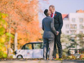 The wedding of Edward and Jason