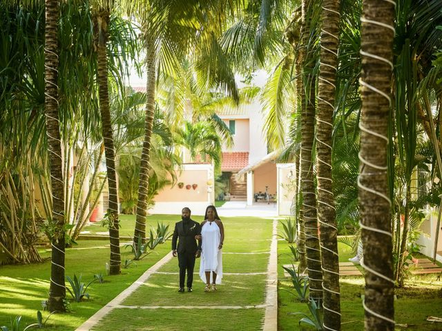 Jaamal and Chena's Wedding in Playa del Carmen, Mexico 12