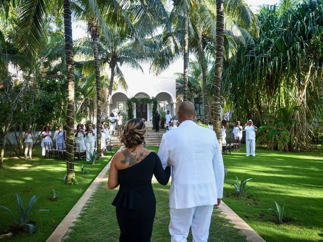 Jaamal and Chena's Wedding in Playa del Carmen, Mexico 13