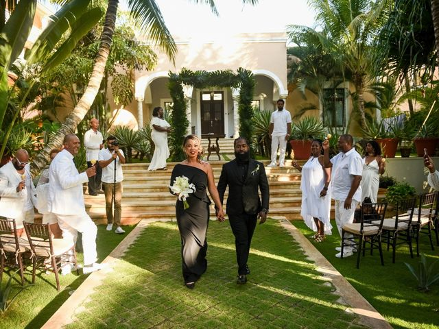 Jaamal and Chena's Wedding in Playa del Carmen, Mexico 20