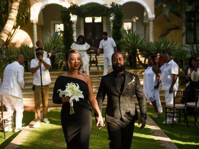 Jaamal and Chena's Wedding in Playa del Carmen, Mexico 21