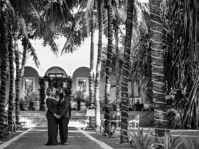 Jaamal and Chena's Wedding in Playa del Carmen, Mexico 30