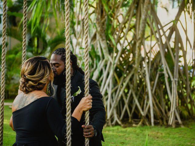 Jaamal and Chena's Wedding in Playa del Carmen, Mexico 33