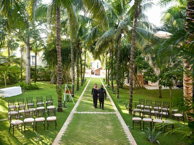 Jaamal and Chena's Wedding in Playa del Carmen, Mexico 36