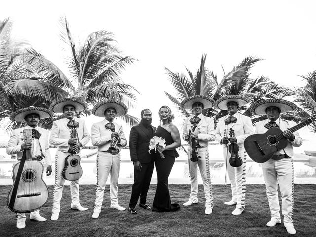Jaamal and Chena's Wedding in Playa del Carmen, Mexico 41