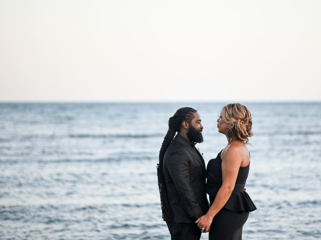 Jaamal and Chena's Wedding in Playa del Carmen, Mexico 45