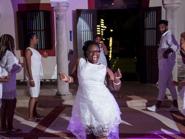 Jaamal and Chena's Wedding in Playa del Carmen, Mexico 56