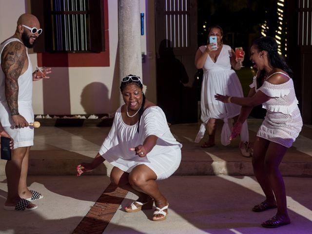 Jaamal and Chena's Wedding in Playa del Carmen, Mexico 57
