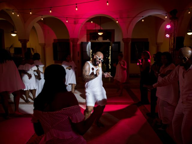 Jaamal and Chena's Wedding in Playa del Carmen, Mexico 58