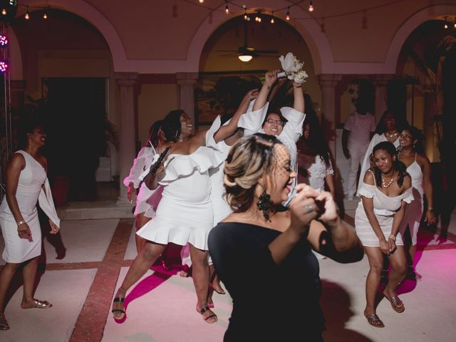 Jaamal and Chena's Wedding in Playa del Carmen, Mexico 60